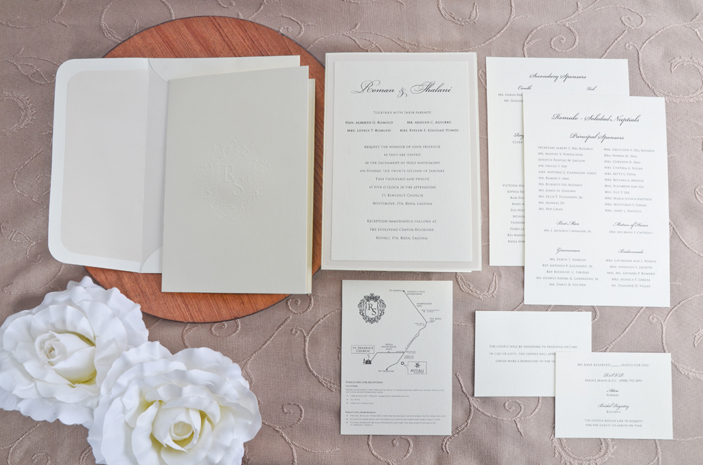 A full classic wedding invitation suite printsonalities stopboris Choice Image