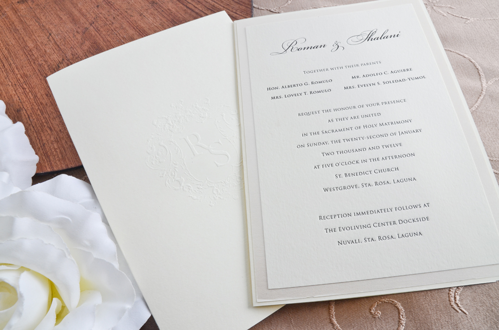 A Full Classic Wedding Invitation Suite – Prinsonalities