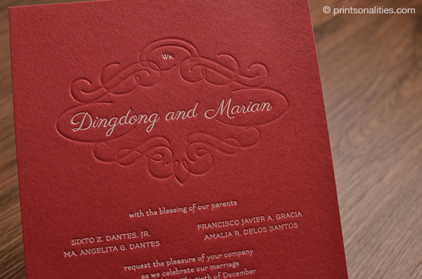 Prinsonalities paper creations wedding invitations the dongyan diaries the full wedding invitation suite stopboris Images
