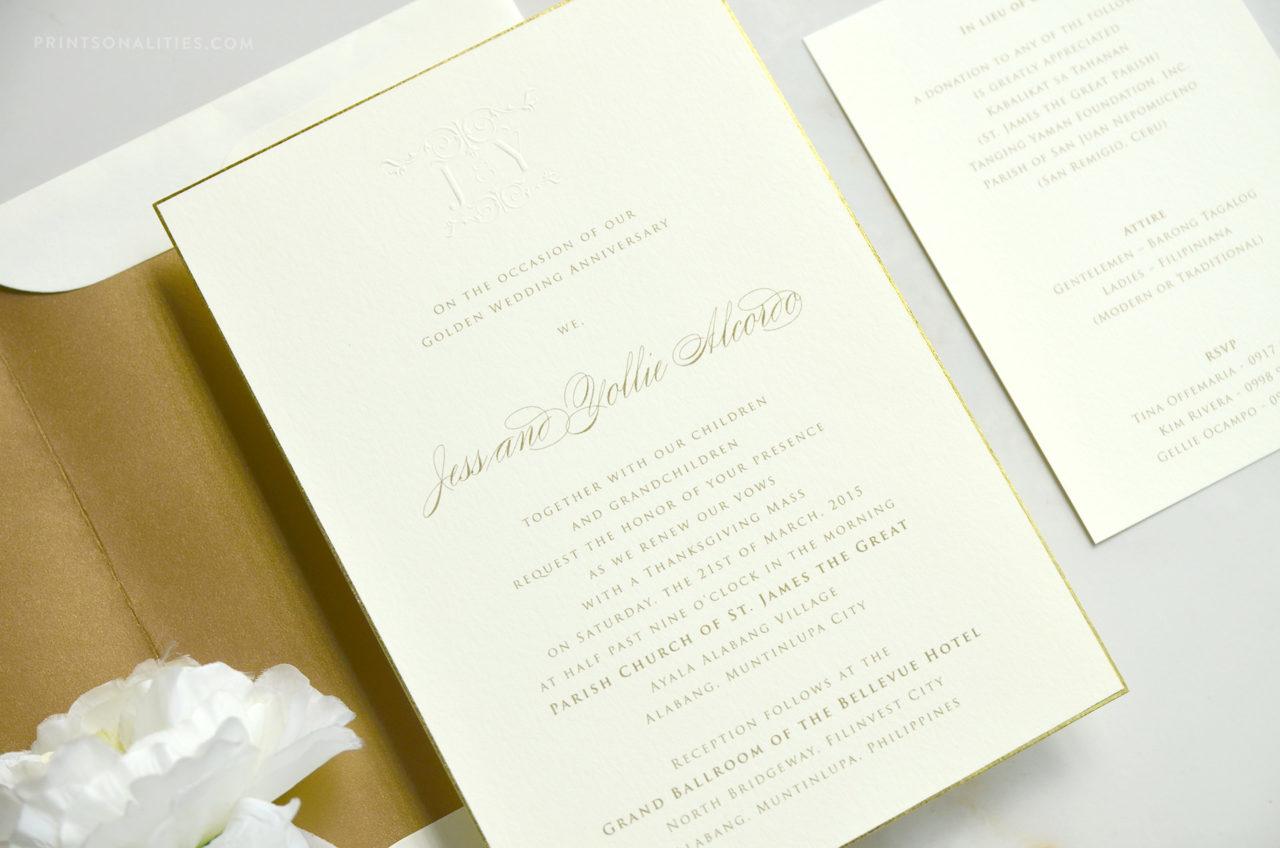 Wedding anniversary invitations u prinsonalities