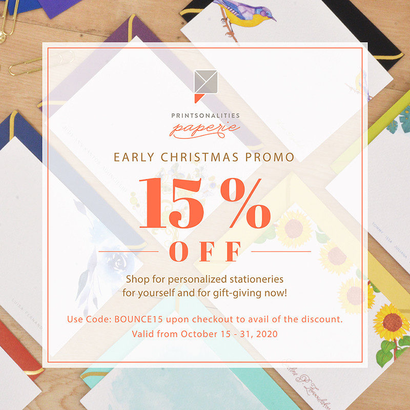 Printsonalities Paperie Early Christmas Promo